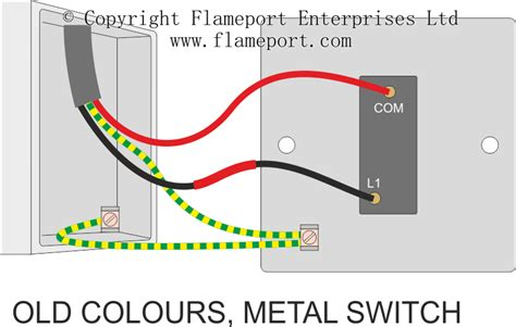 electrical wiring colours for lights one way switched lighting circuits