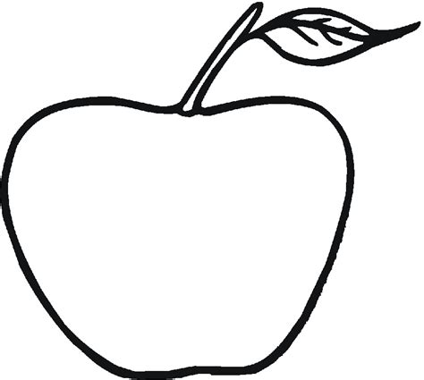 coloring apple clipart best coloring page apple coloring home