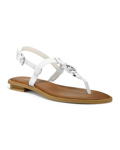 michael kors logo sandals michael kors michael logo sandal in white optic