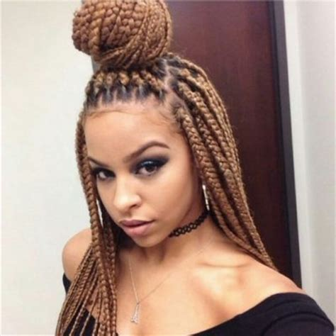 pictures of a black women with med cornrows into a senegalese twist ball the most brilliant single braids for black women