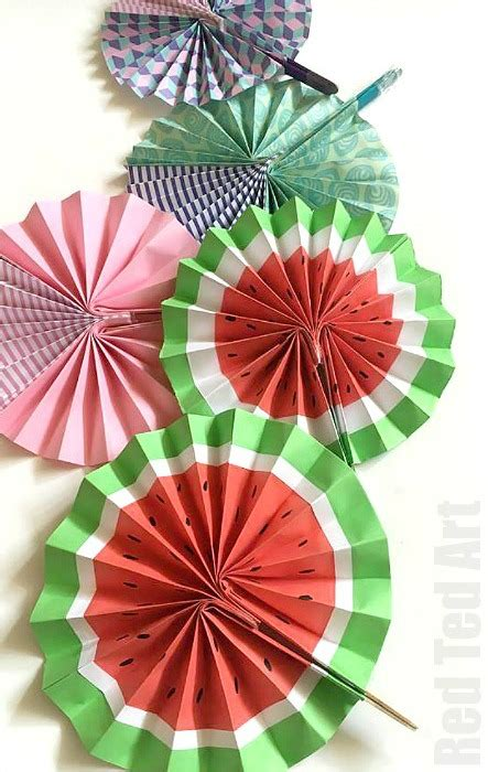 How To Make Paper Fans For Weddings - diy paper fan melon fans ted s