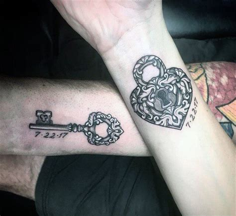 Lock And Key And Notepassing by Cool Matching Tattoos For Couples Key And Lock 187 Style
