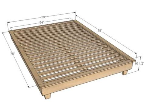 Simple Platform Bed Frame Plans White Build A Hailey Platform Bed Free And Easy Diy Project And Furniture Plans