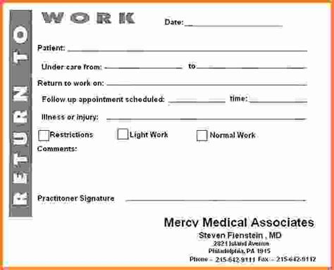 printable fake doctors notes free free printable doctor