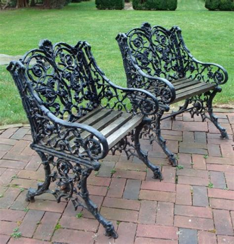 antique cast iron patio furniture cast iron garden chairs cast iron and wood garden chair