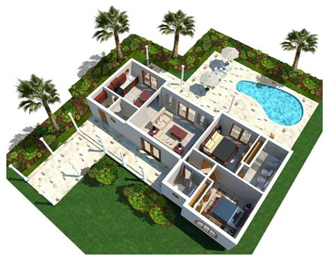 swimming pool house plans architecture 3d modern luxury home plan with curve