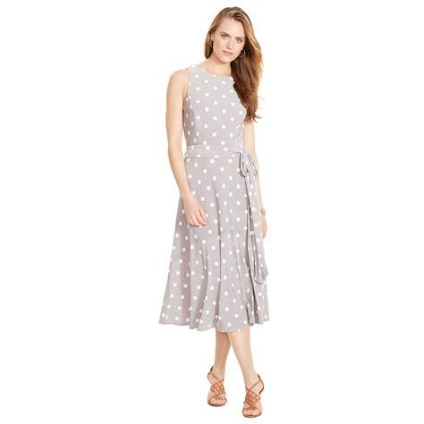Lawren Dress ralph polka dot sleeveless dress in gray lyst