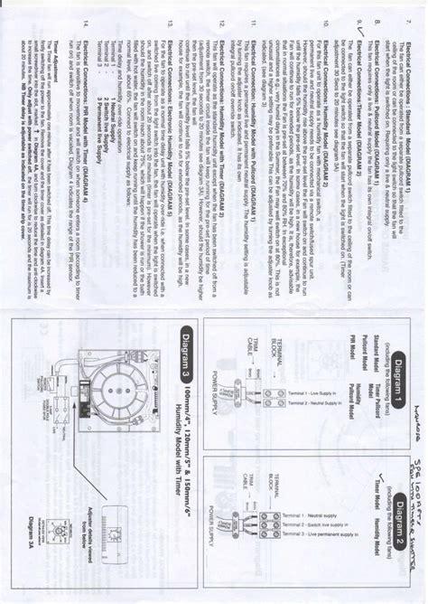 manrose extractor fan wiring diagram wiring diagram