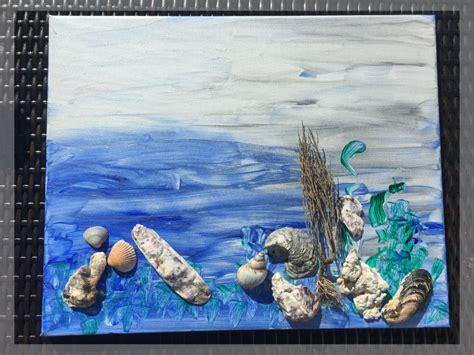 Badezimmer Deko Kindergarten by Muschelbild Basteln Als Maritime Deko F 252 Rs Badezimmer