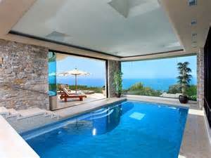 Beach House Chandelier Contemporary Swimming Pool With Exterior Terracotta Tile