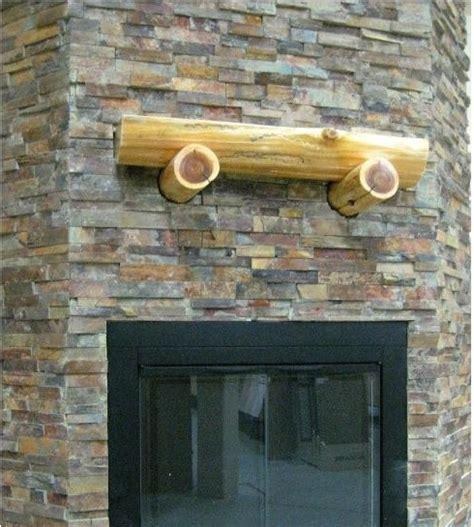 fireplace ledgestone stacked slate traditional