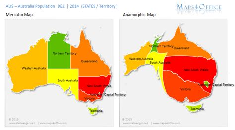 australia population map australia map by population