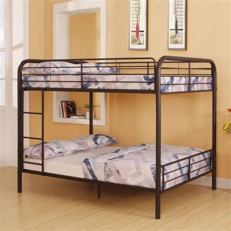 acme bunk beds acme furniture bristol full over full bunk bed in dark