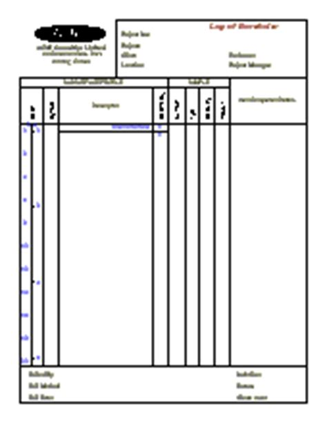 borehole log template borehole borehole log software