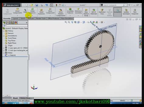 rack and pinion solidworks 3d cad model grabcad