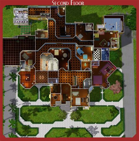 Attic Floor Plans by Mod The Sims The Winchester Mystery House