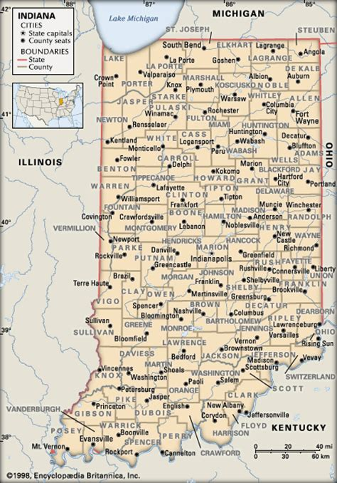 county map of indiana indiana counties encyclopedia children s homework help dictionary