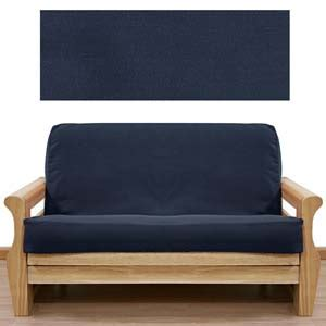 navy blue futon cover solid navy skirted futon cover
