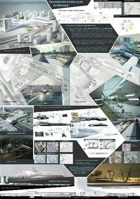 architecture presentation template architecture graduation transportation hub arch student
