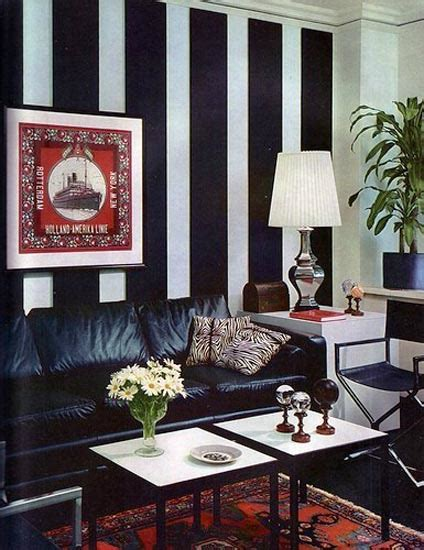 modern interior design with stripes striped wallpaper and