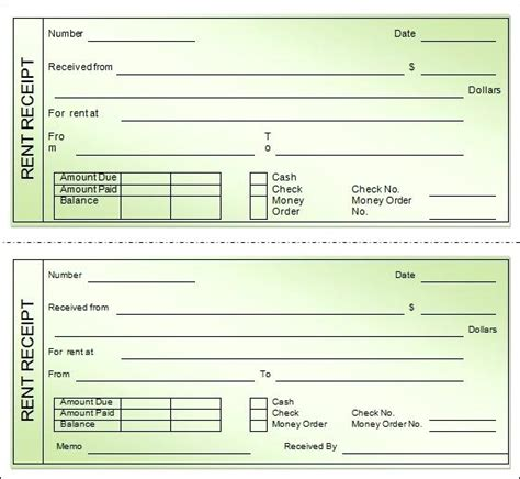 excel receipt book template rent receipt book template free blank rent receipt invoice