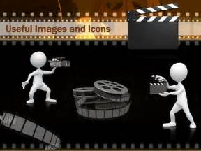film and movie reels a powerpoint template from