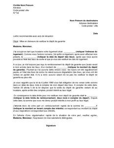 Exemple Mise En Demeure Garantie Document
