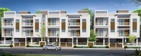 Modern Row House Elevation Joy Studio Design Gallery Best Design