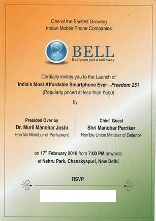 Hp Bell Freedom 251 freedom android mobile at 251 inr forum