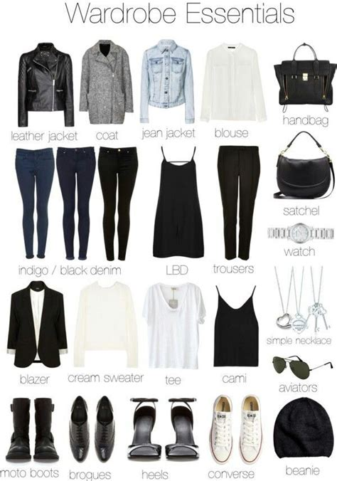 wardrobe essentials capsule wardrobe