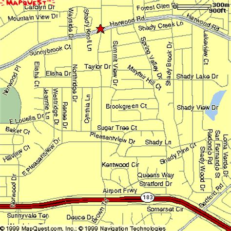 bedford texas map map