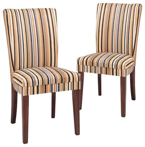 Print Parsons Chair Razz Print Parsons Dining Chair Set Of 2 Contemporary