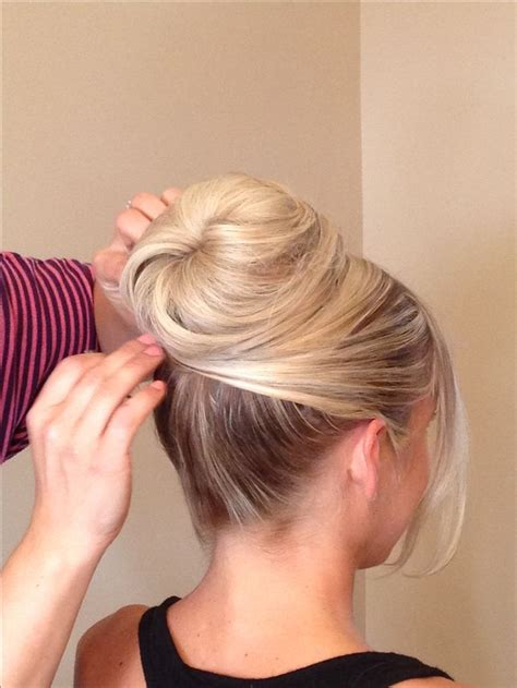 Wedding Hair Up In A Bun www chicagostylelust high bun with crossed front
