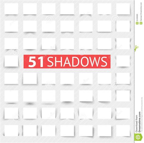 design effect and effective sle size set of transparent realistic shadow effects stock photos