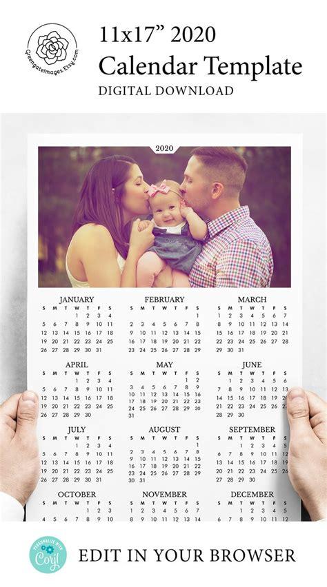 wall calendar template  calendar template photo calendar family photo calendar
