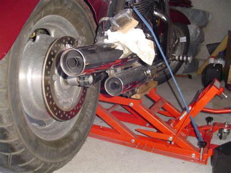 Motorrad Im Winter Aufbocken by Tech Talk Chopper Aufbocken Werkstatt