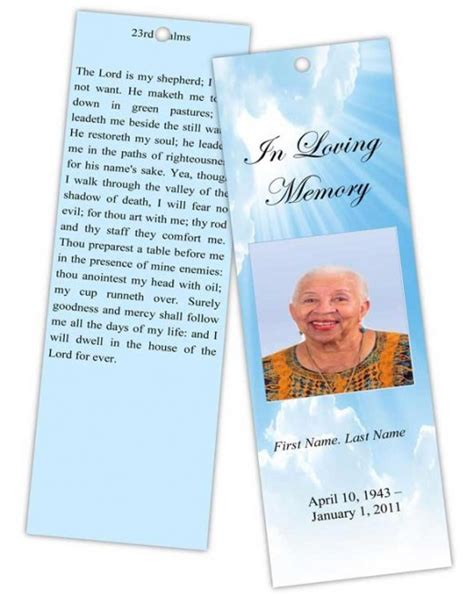 designing memorial bookmarks