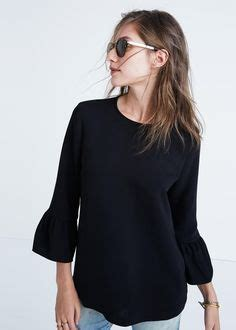 N1 Midea Blouse Black Crepe Import 1000 images about i like clothes on madewell
