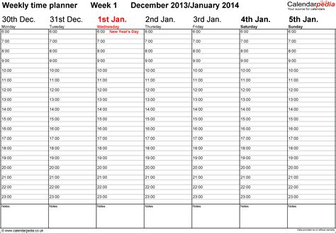 free printable weekly planner with times 6 free weekly calendar template with times lease template