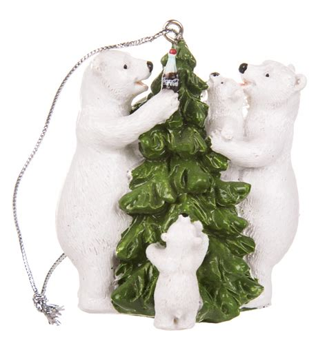 official retro coca cola polar bear family and christmas