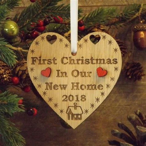 First 1st Christmas in Our New Home Heart Decoration