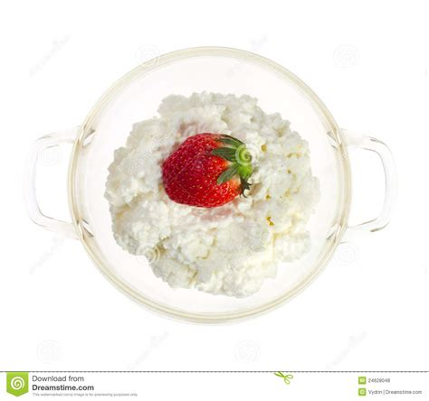 Cottage Cheese Strawberry by Strawberries And Cottage Cheese Royalty Free Stock Photos
