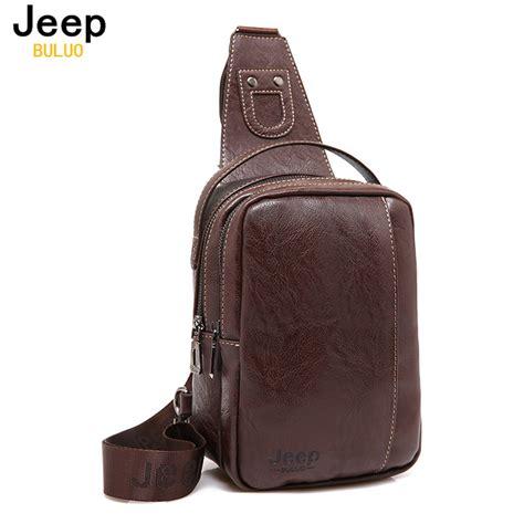 Jeep Handbag jeep buluo brand fashion messenger bags leather handbag cross shoulder chest bags packs
