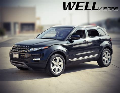 chrome range rover evoque wellvisors side window deflectors land rover range rover