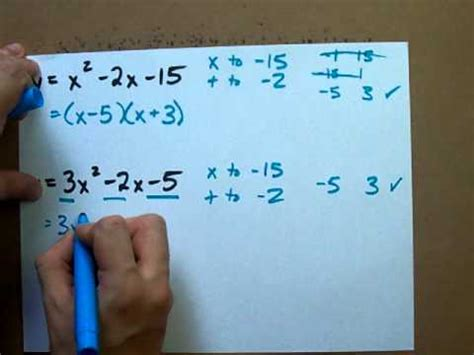 Factors Of 481 how to factor any quadratic equation youtube