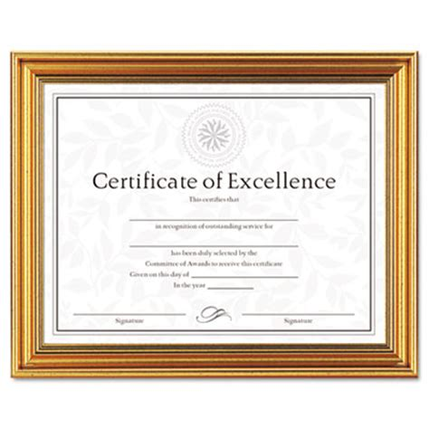 antique color certificate frame with certificate |office