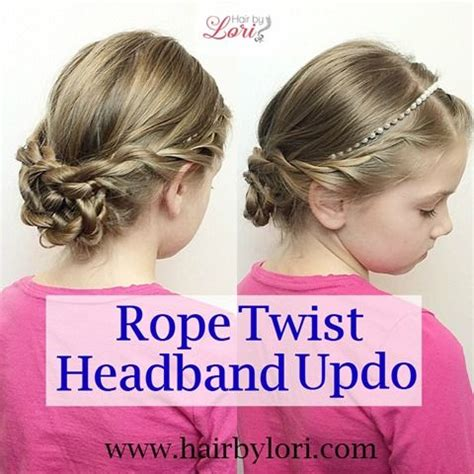 quick easy princess roll with hairband 1000 images about kids hair on pinterest rope twist