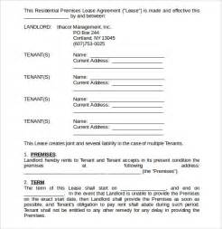 Home Lease Agreement Template sample home lease agreement 12 free documents in pdf word