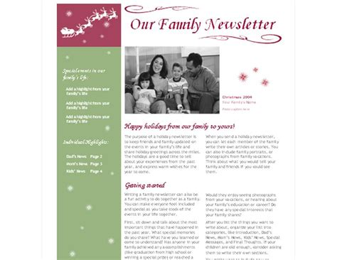 Christmas Newsletter Template Christmas Newsletter Excel Newsletter Template