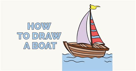 how to draw a kayak boat how to draw a boat in a few easy steps easy drawing guides
